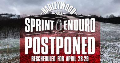 HARLEYWOOD FULL SPRINT ENDURO POSTPONED