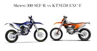 Sherco 300 SEF R vs KTM350 EXC F