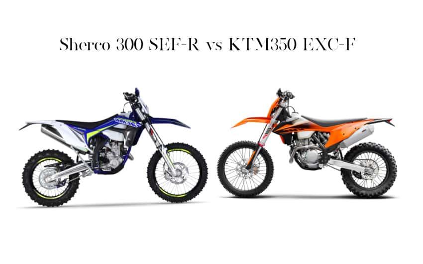 Sherco 300 SEF-R vs KTM350 EXC-F